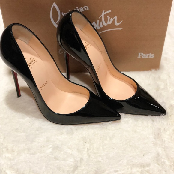 the best attitude 214d4 21b0b Christian Louboutin black patent So Kate 120mm